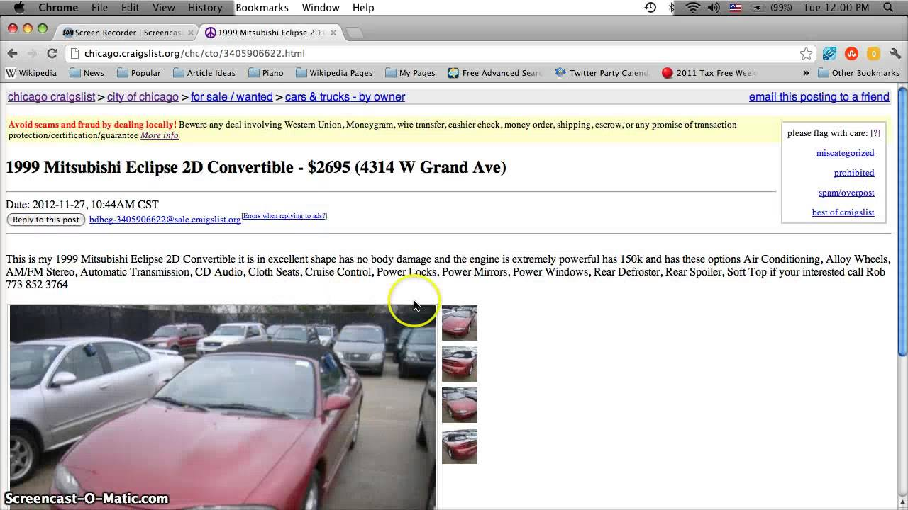 Craigslist Chicago Used Cars, Appliances and Furniture ...