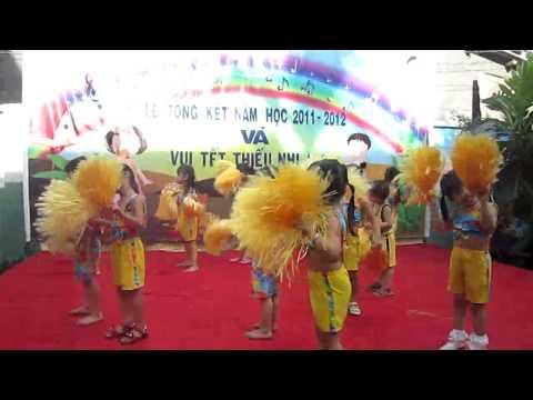Nhảy Aerobic: Trời nắng trời mưa - Trường mầm non Tuổi Thơ