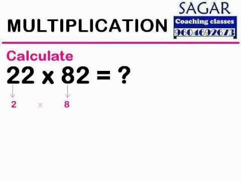 (Maths Tricks) Multiplication : 22 x 82 = ? - Sagar Coaching Classes