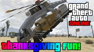 GTA 5 Online Canadian Thanksgiving Day! (Funny Moments W
