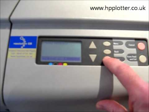 Designjet 500/800 Series - Adding to a network on your printer