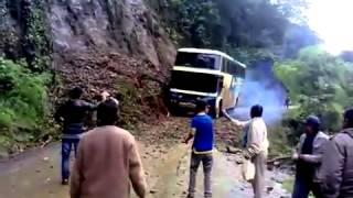 Bus falls off a cliff..