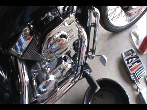 oil change   honda shadow spirit  part  tools  parts needed youtube