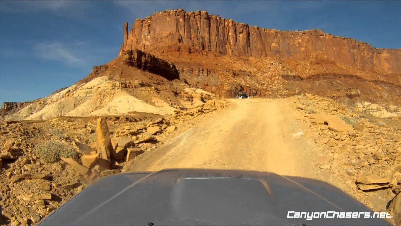 Driving The White Rim Trail In Moab In Our Toyota Tacoma
