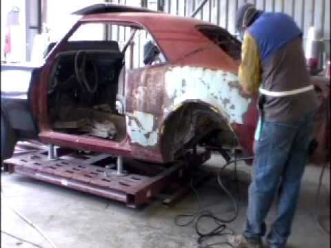 Quarter-panel removal, Sand Blasting, Epoxy Prime, Floors, Tires MUSCLE CARS & HOT RODS Episode 141