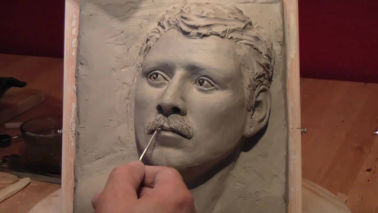 3d drawing with clay 6 youtube for Clay mural tutorial