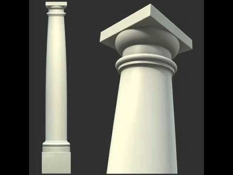 3d Model Of Vitruvius Tuscan Roman Order Column With