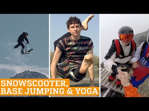 TOP FIVE: Snowscooter, Base Jumping, Yoga & Juggling | PEOPLE ARE AWESOME 2016