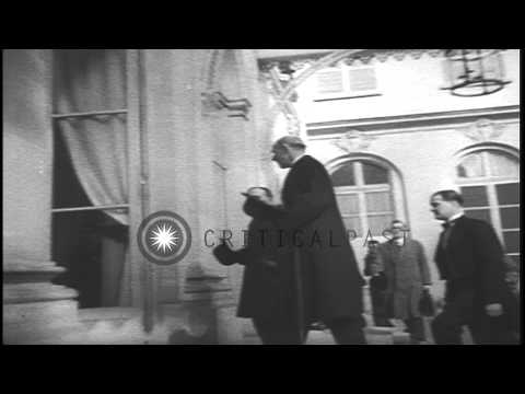 Lord Halifax , Edouard Daladier and Georges Etienne Bonnet meet to discuss the an...HD Stock Footage