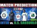 INTER vs. Sassuolo Match Prediction Fecha #2 Serie A - FIFA 14