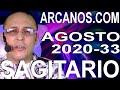 Video Horóscopo Semanal SAGITARIO  del 9 al 15 Agosto 2020 (Semana 2020-33) (Lectura del Tarot)