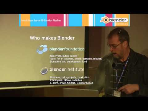 Ton Roosendaal gets hit by ceiling at Blender Conference