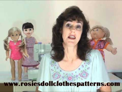 Doll Clothes Sewing Patterns from Rosie