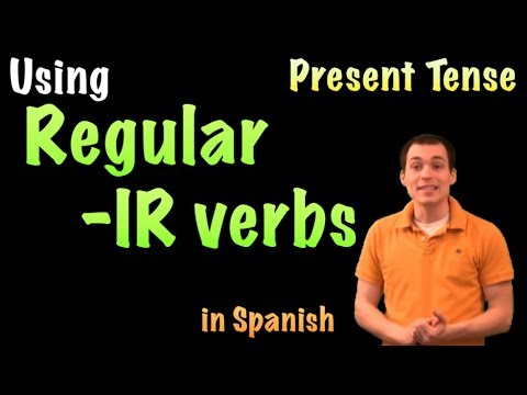 01054 Spanish Lesson - Presente tense: Regular -IR verbs