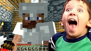 8 Year Old Jacob Playing Minecraft HOW TO MAKE ARMOR