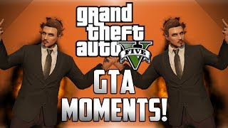 Funny Online GTA 5 Moments! - Titan Races, Mario Kart and Invisible Cars!