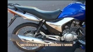 Motociclista bate em caminh�o e morre em Ita�na