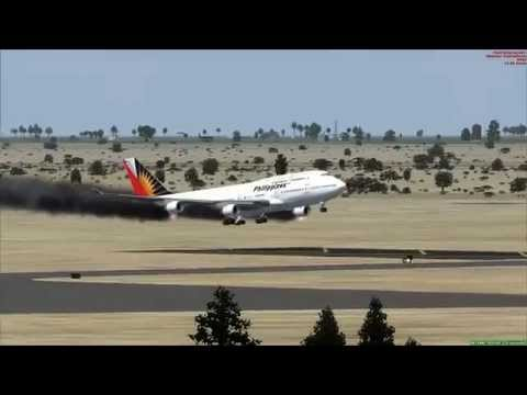 747-400 Engine Fire landing at Baghdad [Iraq]