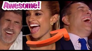 4 FUNNY, ANNOYING?, VERY CUTE & AMAZING Moments on Britain's Got Talent!