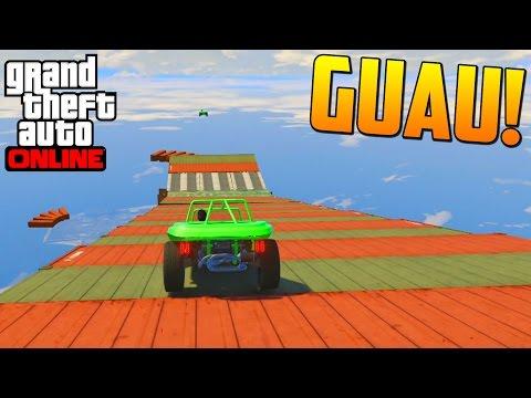 MEGA RAMPA MULTICOLOR! SIEMPRE PASA LO MISMO!! - Gameplay GTA 5 Online Funny Moments (Carrera GTA V)