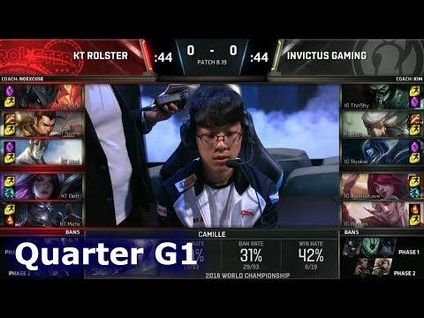 KT vs IG Game 1   Quarter Final S8 LoL Worlds 2018   KT Rolster vs Invictus Gaming G1