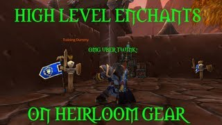 WoW Patch 5.4: Pandarian Enchants on Heirlooms!