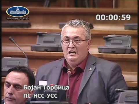 Бојан Торбица - Повреда пословника 26. 06. 2018. Бошко Обрадовић