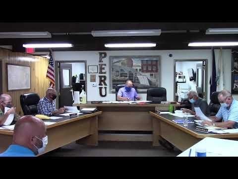 Peru Town Board Meeting  7-27-20