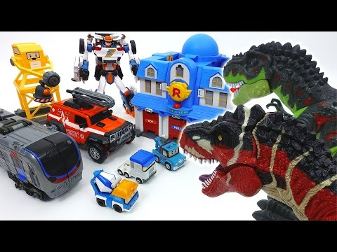 Go Go Tobot Athlon Rescue Center is Under Attack by Dinosaurs~