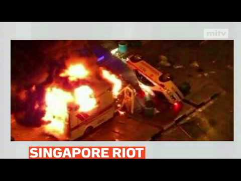 mitv - Police in Singapore have made 27 arrests after hundreds of people took part in a riot