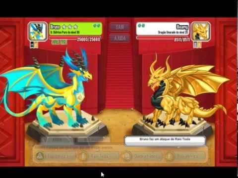 Dragon City: Fortalecendo dragões em batalha.