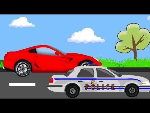 Policja pościg- Bajki dla dzieci Police chase AUTA