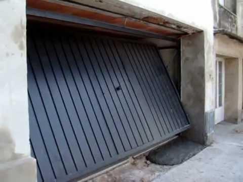 Porton Levadizo Doble Con Puerta de Escape