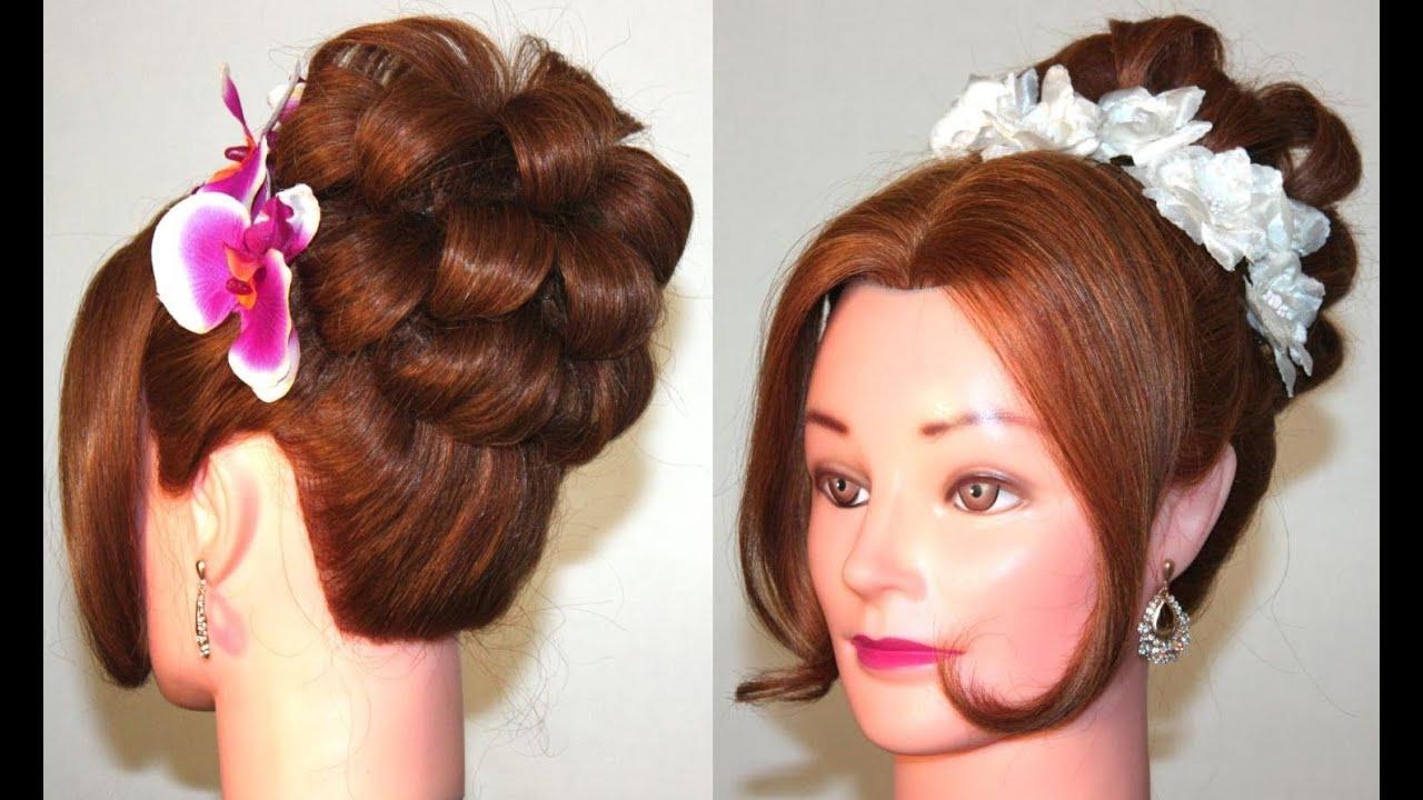 Прическа с буклями из волос