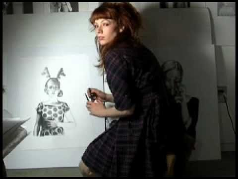 Mercedes Helnwein Drawing on youtube
