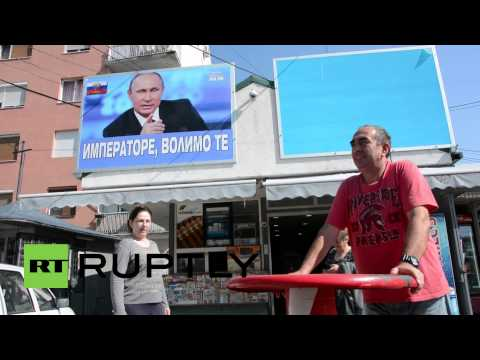 Serbia: Jagodina citizen declares love for Putin with giant billboard