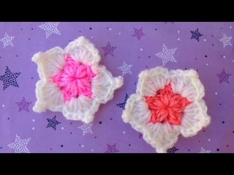 Hướng dẫn móc hoa len: Mẫu hoa tuyết 5 cánh