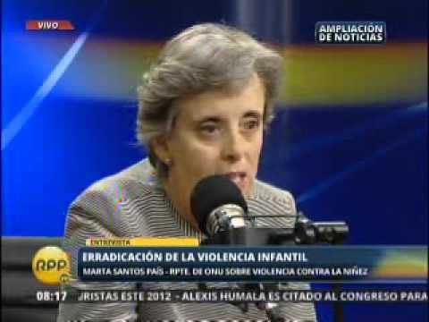 Entrevista Marta Santos Pais Encuentro Internacional contra la Violencia Infantil Peru