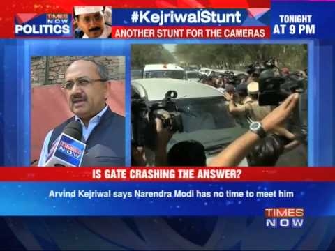 Arvind Kejriwal tries to force meeting with Narendra Modi