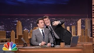 Jimmy Fallon Wins an Old $100 Tonight Show Bet