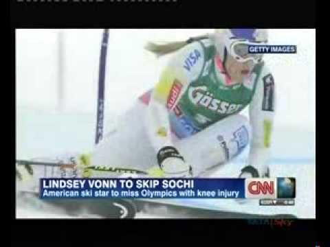Skier Lindsey Vonn to miss Sochi Olympics due to injury