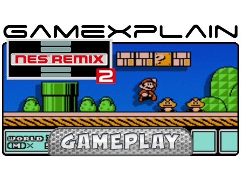 NES Remix 2: SMB 1-1 Recreated in Super Mario Bros. 3 - Gameplay (Wii U)