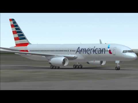 IFFG - American Airlines B757-200 takeoff from KDBQ, Chicago
