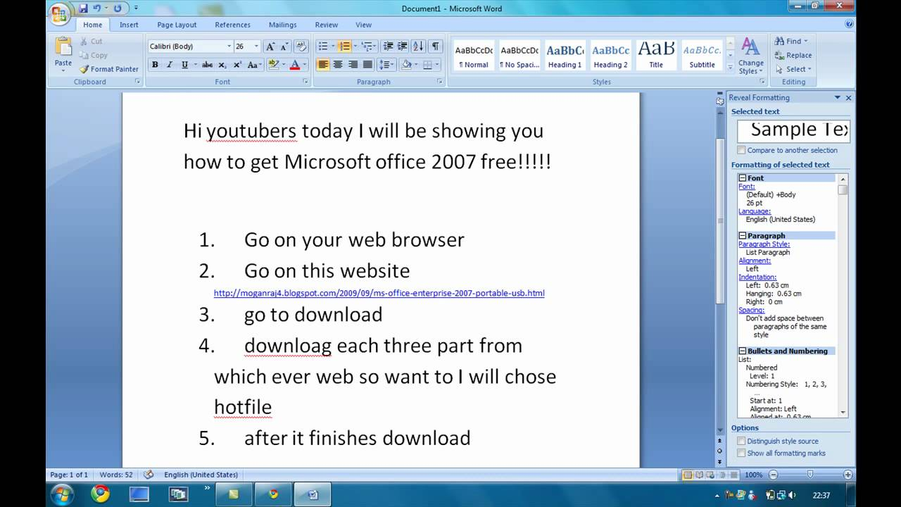 Microsoft Office 2007 free Download for Windows PC