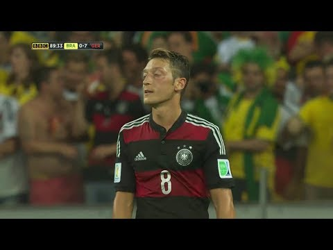 Mesut Özil vs Brazil (World Cup) 720p HD (08/07/2014)