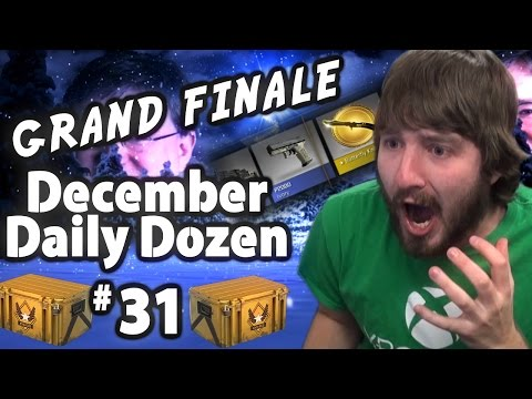 HOLY KNIFE - December Daily Dozen Day 31 Part 3 of 3 (CS:GO Case Opening)
