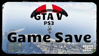 GTA V Game Save PS3 US Unlimited Money Completed Game