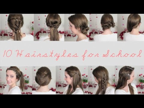 10 Quick & Easy Hairstyles for School | spreadinsunshine15 - YouTube
