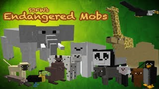 Minecraft Mods: Endangered Mobs Mod 15 NEW ANIMALS, RIDE