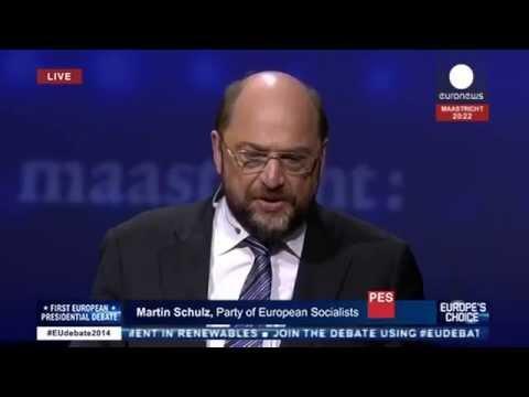 ZDF das #TV Duell Europawahl 2014 Martin Schulz Jean Claude Juncker TV Duell Europawahl 2014